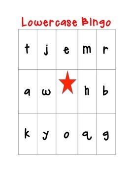 Lowercase Alphabet Bingo! 24 cards