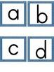 Lowercase Alphabet Letter Flashcards Blue Dot