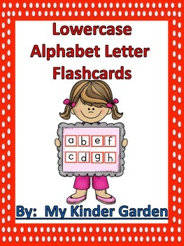 Lowercase Alphabet Letter Flashcards Red Dot