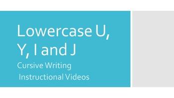 Lowercase Cursive U, Y, I and J (#5 in series)