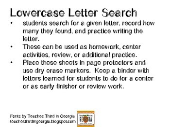 Lowercase Letter Search