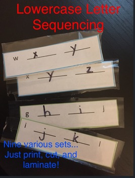 Lowercase Letter Sequencing