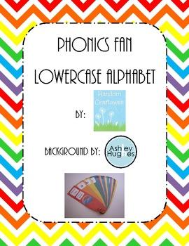 Lowercase Phonics Fan