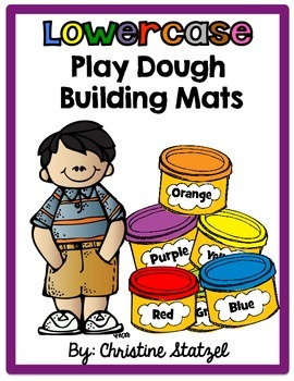 Lowercase Play Dough Building Mats