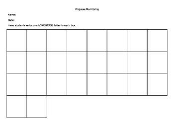 Lowercase letter writing assessment