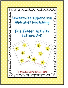 Lowercase to Uppercase Letter Matching (A-J) - File Folder