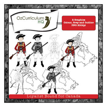 Loyalist Soldier Bound for Canada Clip Art
