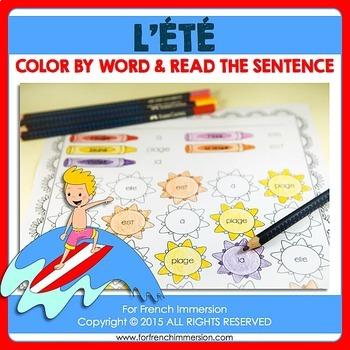 L'été - FRENCH Summer Color & Read