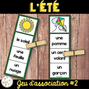French Summer (été) - jeu d'association - mots