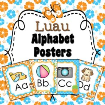 Luau Alphabet Posters A - Z