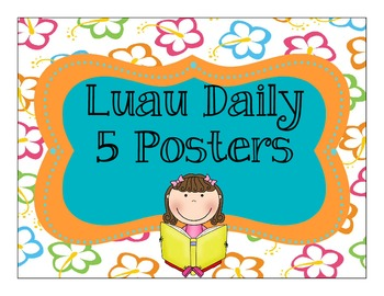 Luau Theme Daily 5 Posters, Rules & Rotation Cards