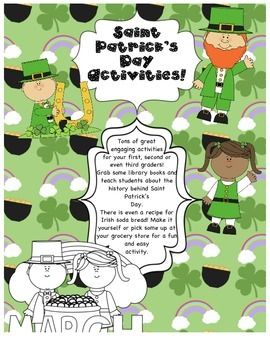 Primary Activities for Saint Patrick's Day! Luck O' The Irish!
