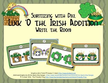 Luck 'O the Irish Addition {Subitizing with Dice}