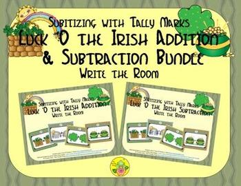 Luck 'O the Irish Addition & Subtraction Bundle {Subitizin