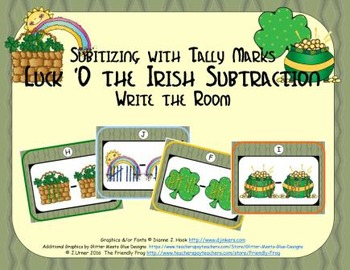 Luck 'O the Irish Subtraction {Subitizing with Tally Marks}