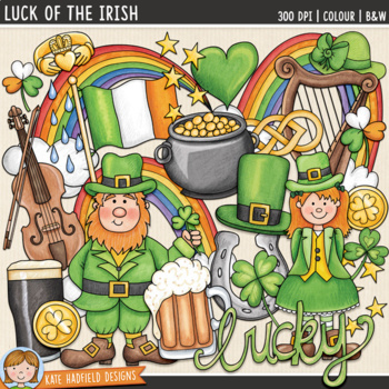 "St Patrick's Day Clip Art 2: ""Luck of the Irish"""