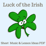 """St. Patrick's Day   """"Luck of the Irish"""" Action Song   Shee"""
