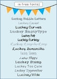 Luckey Fonts - Freebie Collection 1