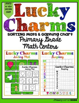 Lucky Charm Sorting Mats and Graphing Chart Primary Grade