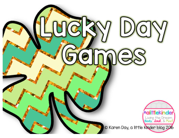 Lucky Day Math and Literacy Games for whole group, small g