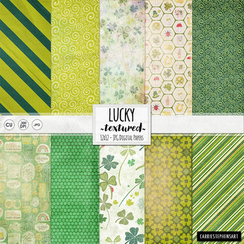 Lucky Digital Background Papers - Patterned, Light Texture