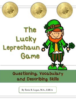 FREEBIE  Lucky Leprechaun Game: Questioning, Vocabulary, D