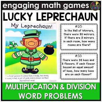Lucky Leprechaun Word Problems March Monthly Math Center