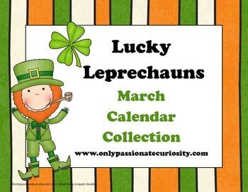 Lucky  Leprechauns March Calendar Card Collection for Pock
