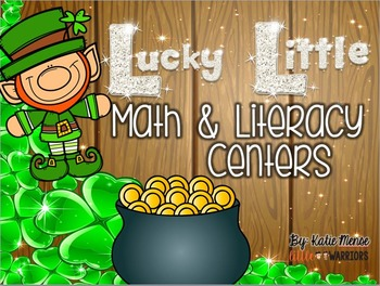 Lucky Little Math and Literacy Centers St. Patrick's Day t