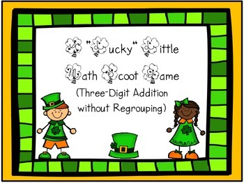 """Lucky Little Scoot Games"" freebie (3-digit addition with"