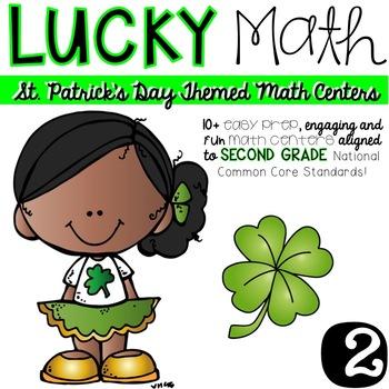 Lucky Math-SECOND grade Math Centers