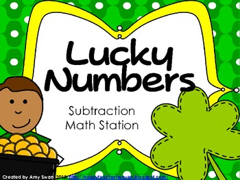 Lucky Numbers Subtraction Math Station or Center - St. Par