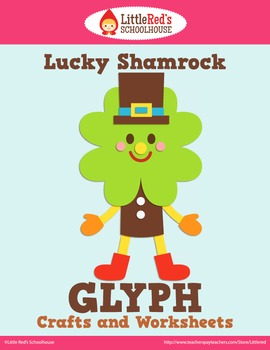 Lucky Shamrock St. Patrick's Day Glyph Craft and Worksheets