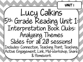 Lucy Calkins 5th Grade Reading Unit 1-Interpretation Book