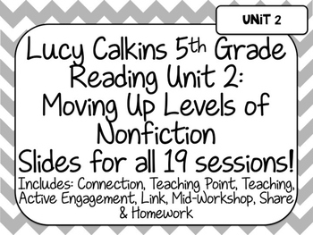 Lucy Calkins 5th Grade Reading Unit 2-Moving Up Levels of
