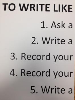 Lucy Calkins Informational Writing Anchor Chart - Write Li