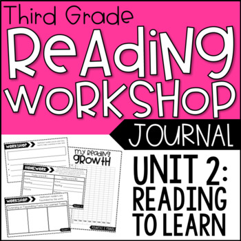 3rd Grade Lucy Calkins Reading Workshop Journals, Unit 2