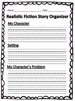 Lucy Calkins Realistic Fiction Organizer