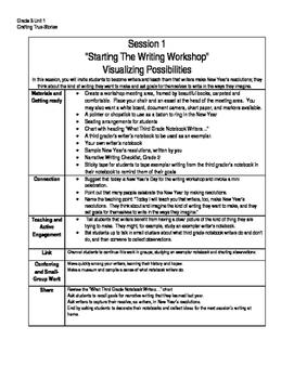 Lucy Calkins Writing Summary, Grade 3 Unit 1, Crafting Tru