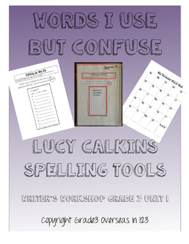Lucy Calkins Words I Use But Confuse