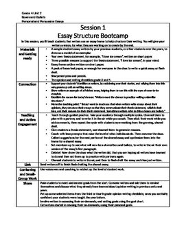 Lucy Calkins Writing summary, Grade 4 Unit 2, Personal and