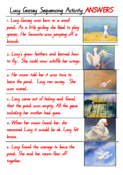 Lucy Goosey Sequencing Activity