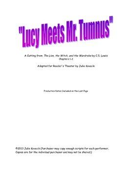 """Lucy Meets Mr. Tumnus""  A Reader's Theater Script"