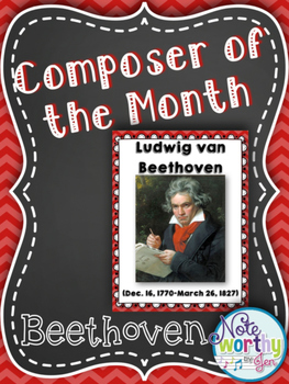 Ludwig van Beethoven Composer of the Month Bulletin Board
