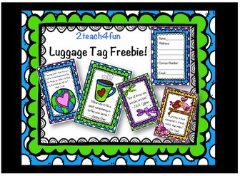 Luggage Tag Freebie 2teach4fun