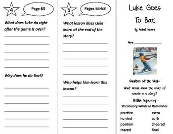 Luke Goes to Bat Trifold - Journeys 2nd Grade Unit 4 Week