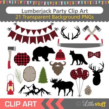 Lumberjack Party Clip Art, Woodland Clipart, Lumberjack Pl