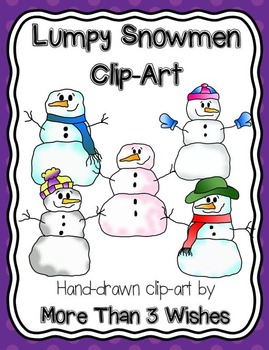 Lumpy Snowmen Clipart Collection