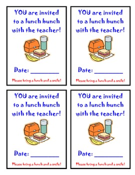 Lunch Bunch Invitation