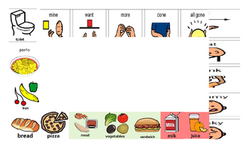 Lunch Communication Board
